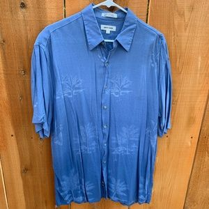 Pierre Cardin Hawaiian Aloha Camp Shirt Size L